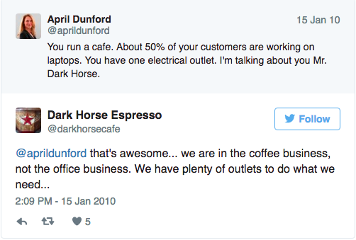 Dark Horse Cafe reputation management fail Titanium Marketing